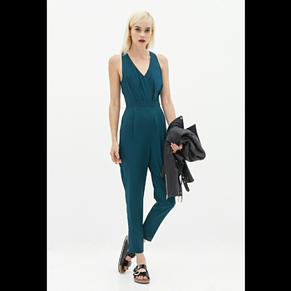 8df161783e1 Forever 21 Pants - Pleated Halter Jumpsuit
